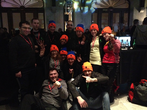 Resolute team Tuques Bleues event  in Montreal