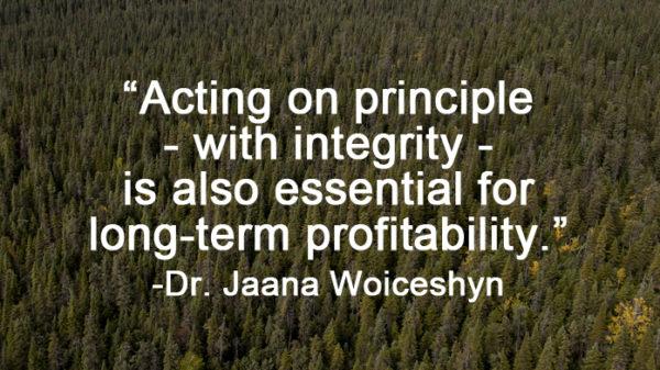 Dr. Jaana Woiceshyn quote