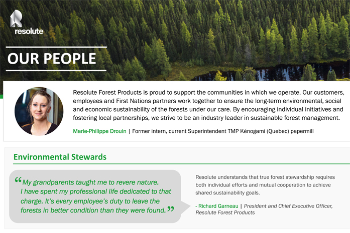 Resolute Forest Products - Our people