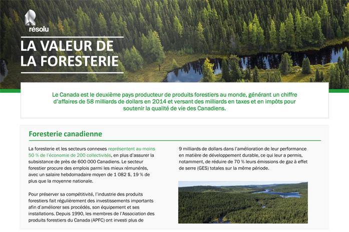 Foresterie au Canada