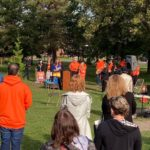 Resolute employees plant a tree to honor residential school survivors