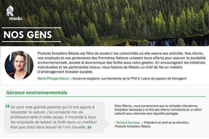 Produits forestier Résolu supporte les collectivités