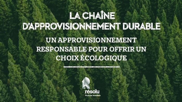 La chaîne d'approvisionnement durable