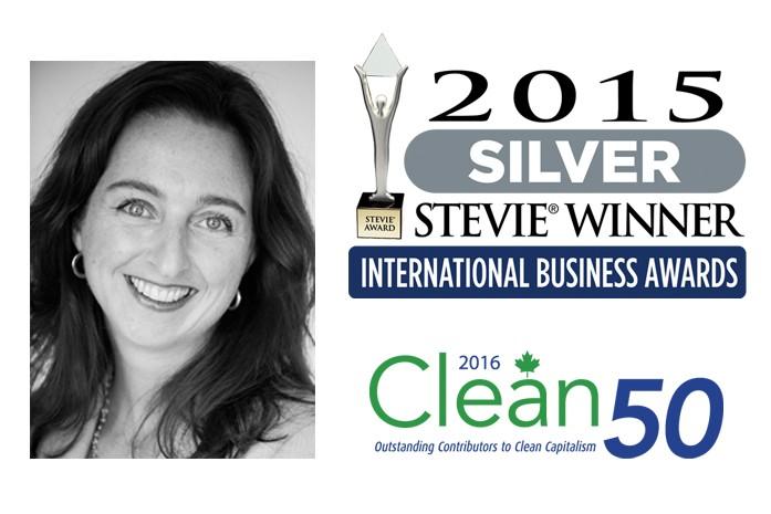 Pascale Lagacé gagnant de deux prix Stevie en 2015